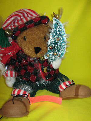 *SPARKLING FIBER OPTIC HOLIDAY BEAR*  AVON Inside Home Holiday/Seasonal NIB