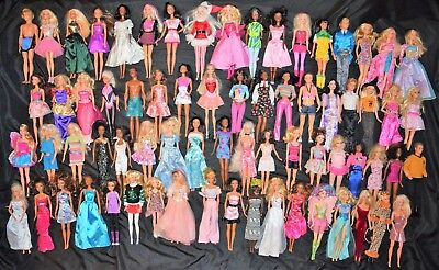 Huge Large Lot Barbie & Friends Mattel Fashion Dolls of 70 Dolls with outfits