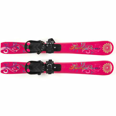 Lucky Bums Girls Kids Toddler Plastic Skis, Pink - Suitable for 4 yrs & under