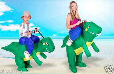 Inflatable Dinosaur Costume T-Rex Adult Fancy Dress Dragon Hen Stag Night Outfit