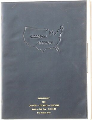 1972 Discover America UNITED STATES CANADA ROAD ATLAS Highway Maps States Cities