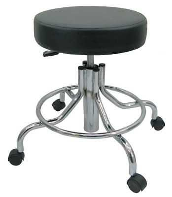 "Round Pneumatic Stool, Height 21-1/2"" to 28-1/2"" Black, 5NWG0"