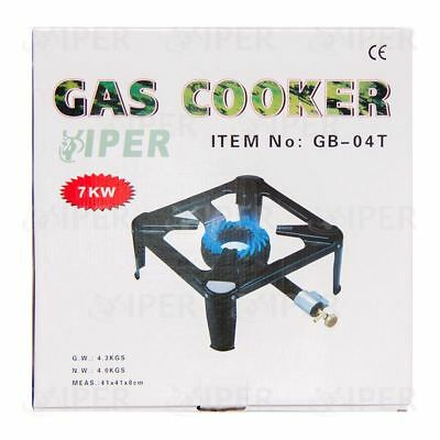 7kw Large Cast Iron Gas LPG Burner Cooker Gas Boiling Ring Restaurant Catering