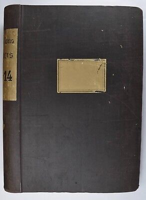 """Large Antique French Fabric Sample Book c 1913-14 - NO RESERVE 21x15"""""""