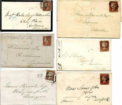 SG8 1d Imperf. On Covers x 6 Unplated. Please See Scans