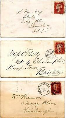 SG43 1d Plates 71, 89, 160 On Covers. Please See Scans
