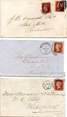 SG43 1d Plates 84+92, 147, 177 On Covers. Please See Scans