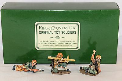 King And Country Wss011 Ws011 3 Man Ambush Group  Retired Set 60Mm Figures
