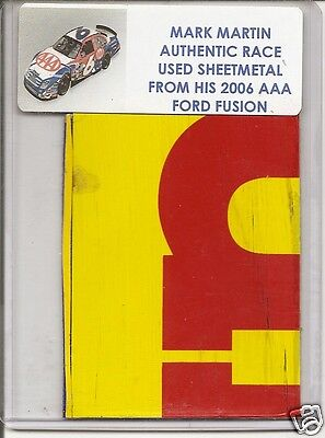 Mark Martin authentic #6 AAA race used sheet-metal 2006 Ford Fusion