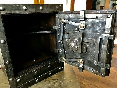 1790/1820 italian antique safe, strong box , key
