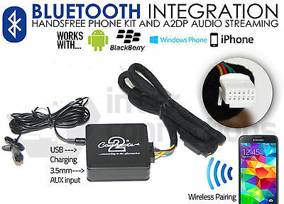 Toyota Avensis Bluetooth streaming adapter handsfree calls CTATYBT002 AUX iPhone