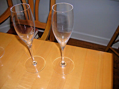 Pair of Vintage Baccarat Champagne Flutes