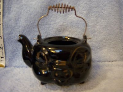 Vintage Tea Pot with Wire Handle