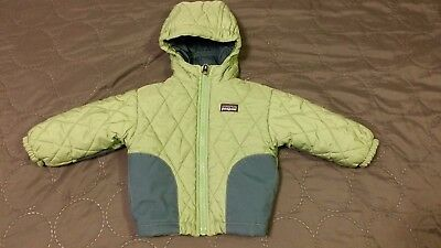 Patagonia Baby Infant 6 Month Boy Girl Green Quilted Puffer Winter Coat Green