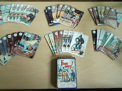 Enid Blyton Vintage Mystery Card Game By Pepys  44 Cards In Original Box
