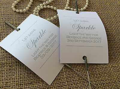 Personalised Discount Wedding Sparklers Covers Favours Games Shabby Rustic