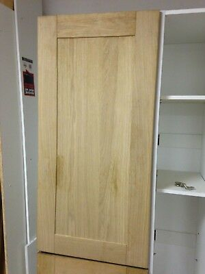 Unfinished Kitchen cabinet SOLID OAK LARDER DOOR 500X1220mm Brunswick mfi & UNFINISHED KITCHEN CABINET SOLID OAK LARDER DOOR 500X1220mm ...