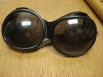 Vintage DEPOSE FRANCE Vented Bug Eye Ski Goggle 1960s era BUGEYE GOGGLES