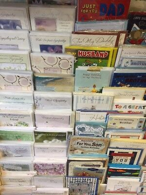 100 top family Greeting cards. wholesale joblot greeting cards