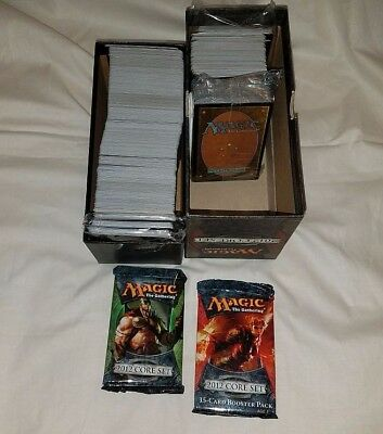 Magic The Gathering Box Card Lot 2012 Core Set + 2 Unopened Booster Packs!