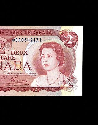 Replacement $2 *BA0542171 Low Mintage!!! UNC. 1974. Canada