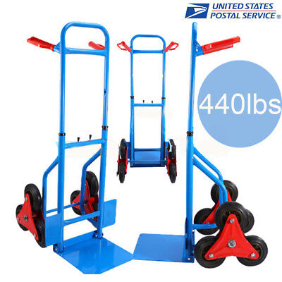 440lb Heavy Duty STAIR CLIMBING Moving Dolly Hand Truck Warehouse Cart Best