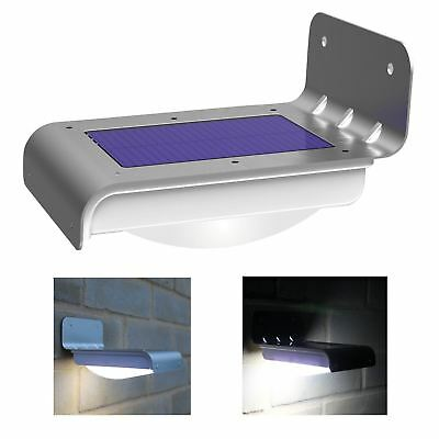 16 LED Solar Power Rechargeable PIR Motion Sensor Security Wall Light Shed