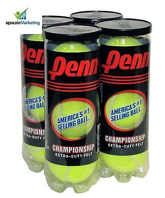12 Tennis Balls Championship Extra Duty Four Cans Sporting Goods Indoor Sports