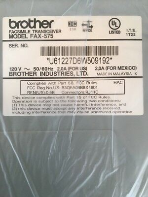 BROTHER Personal FAX 575 Machine Plain Paper    DF