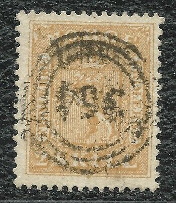 "NORWAY o 1863 Weapon 2 sk yellow ""364"" (CHRISTIANIA BYPOST) NK#6 VF/LUX"