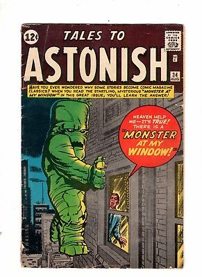 Tales to Astonish 34 VG 4.0 Classic Jack Kirby Monster at my Window Steve Ditko