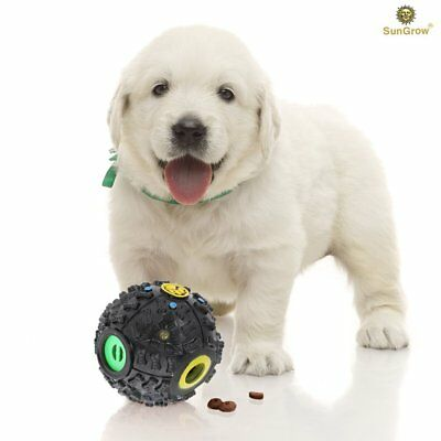 SunGrow Interactive Dog Toy-puzzle and treat dispenser for puppies, Increases IQ