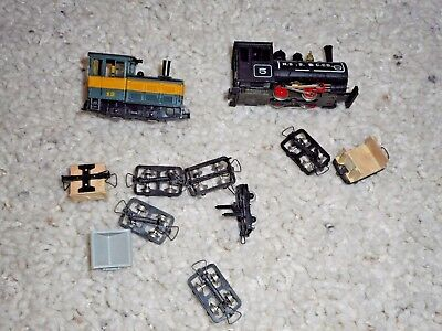Ho Scale Minitrains Engine And Car Group.