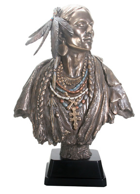 "Indian Bust Statue 21"" Tall - WE SHIP WORLDWIDE - HOME DECOR"