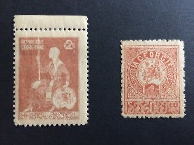 2 early Georgia stamps