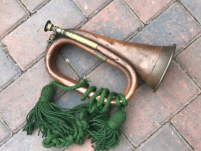 Ww1 Hawkes & Son Piccadilly Circus London Copper Bugle Dated 1915