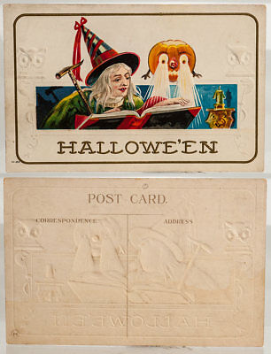 Early Embossed Halloween Post Card, ca.1920