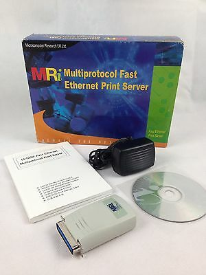 MRi Multiprotocol Fast Ethernet 10/100 Print Server