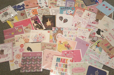 X20 Joblot Female BIRTHDAY Cards- Mostly JOHN LEWIS - TOP QUALITY- Wholesale