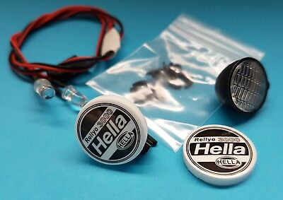 "1/10 1/8 RC CarTruck Buggy Crawler Led Twin Spot Lights ""Hella"" White"