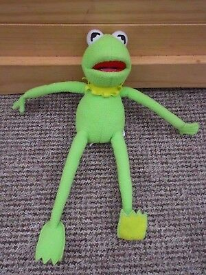 """The Muppets 13"""" Plush Kermit The Frog Beanie From Disneyland"""