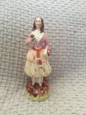 Staffordshire Figurine - Lady Girl