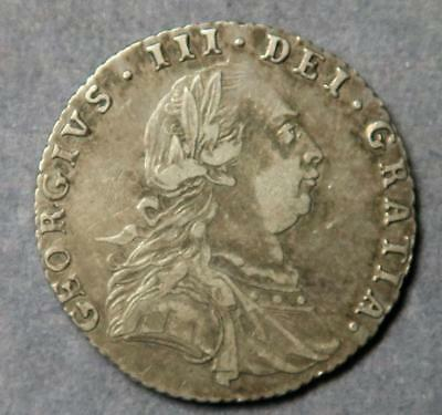 1787 George III sixpence variety with hearts