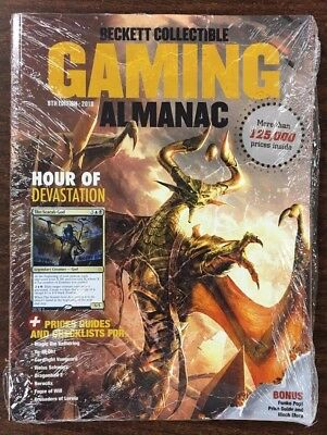 2018 Beckett Gaming Almanac Price Guide & Checklist 8th Edition Brand New!