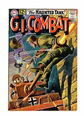 G.I. Combat 96 VG/F 5.0 Early Haunted Tank Awesome Greytone Cover GI
