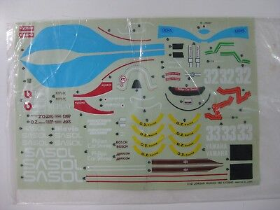 Vintage Kyosho Decal/stickers F1 Jordan Yamaha 192 R/c 1/10-New!!