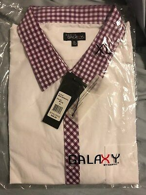 Galaxy by Harvic Short-Sleeve Dress Shirt Size XL