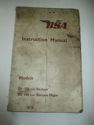 Bsa Instruction Manual