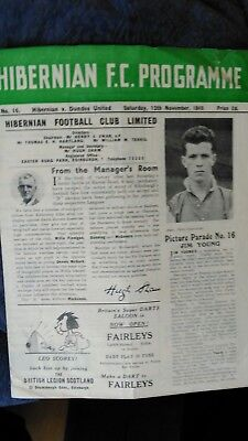 Hibernian v Dundee United Reserves Programme - 1949/50 *  see item description *