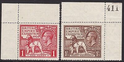 Gb 1924 Wembley Corner Examples Set Unmounted Mint